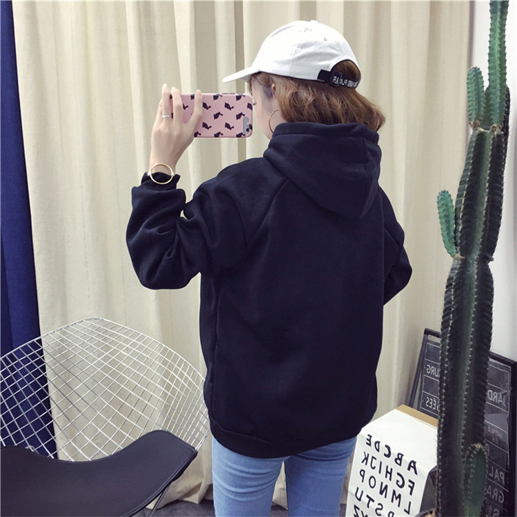 Hb93ed85c406746a69021606106f2187ab - Autumn winter Harajuku Solid Sweatshirt Women Long Sleeve Hoodie Loose Women Hoodies Sweatshirts Casual Tracksuit