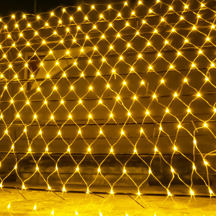 BEIAIDI 2x2M 3x2M 6x4M LED Net Mesh Fairy String Light Garland Window Curtain Christmas Fairy Light Wedding Party Holiday Light
