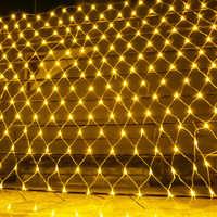 Beiaidi 2x2 m 3x2 m 6x4 m led rede de malha luz da corda de fadas guirlanda cortina de janela natal luz de fadas festa de casamento luz do feriado