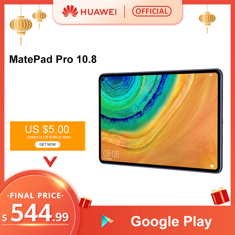 Original HUAWEI MatePad Pro Tablet Android 10 Turbo 10.8 7250mAh Kirin990 Core WIFI LTE Type-C Four-channel Support Pencil image