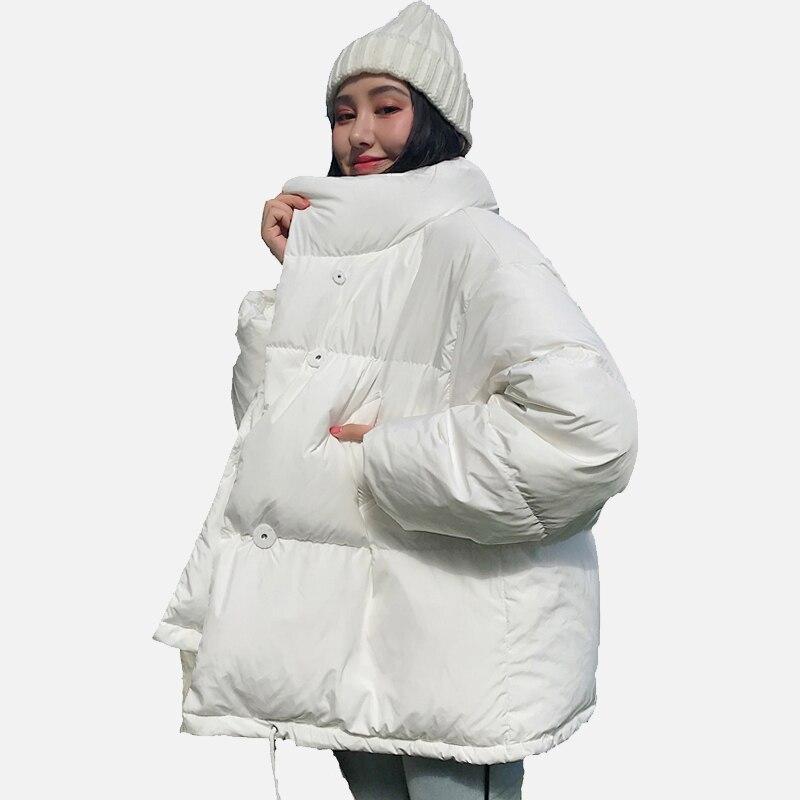Winter Verdicken Warme frauen Parka Jacke Koreanische Stil Stehen Kragen Baumwolle Gepolsterte Frauen Mantel 2019 Geblasen Verdicken Jacken Weibliche