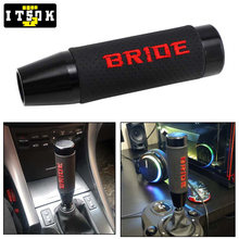 Bride Car Shift Gear JDM Universal Aluminum Leather Transmission Gearstick Lever Shifter Knob Racing Gearshift Manual Automatic