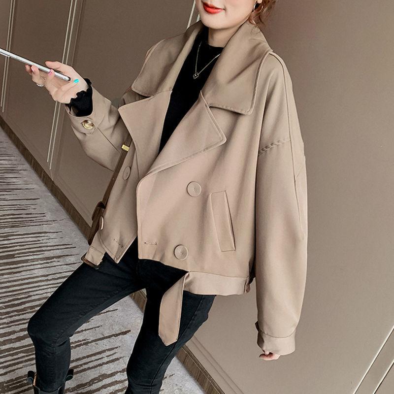 Женское пальто в стиле ретро Parker, популярная осенне-зимняя короткая ветровка, Корейская Свободная куртка с длинным рукавом, Топ