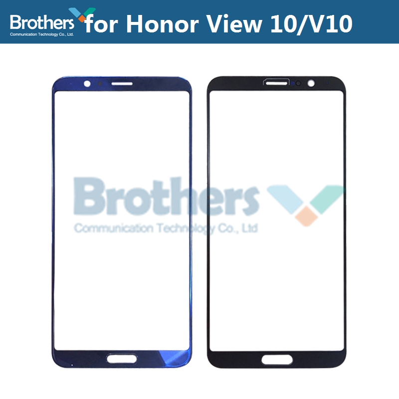 Front Outer Glass Lens For Huawei Honor View 10 V10 Touch Screen Glass For View10 BKL-AL20 L04 Front LCD Glass Lens Replacement