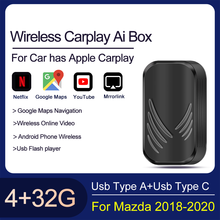 2.0 Carplay AI Box pour Apple 4 + 32G pour Mazda 2016-2020 Mirror Link sans fil Carplay Dongle système Android Plug and Play Youtobe