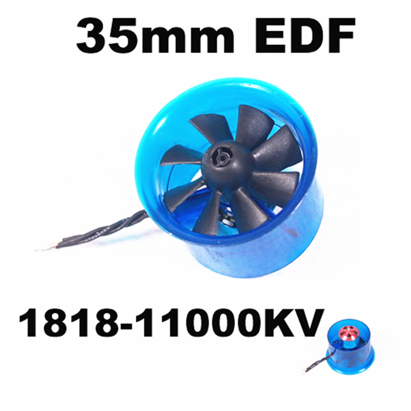 EDF HL3508 1818 11000KV Brushless Motor 35mm 8 blade EDF Ducted Fan Power System For RC Aircraft Airplane RC Model