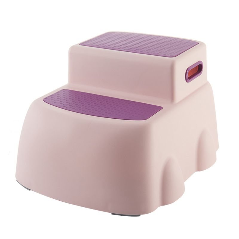 Children's Double Height Step Stool, Toddler's Stool, Suitable For Potty Training In The Bathroom 50PB