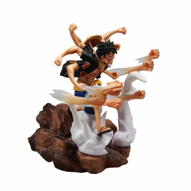 Anime 1/6 Scale Figure One Piece Gomu Gomu No Gatling Ver. Monkey D Luffy Statue GK Kai Action PVC Figure Toy 31CM
