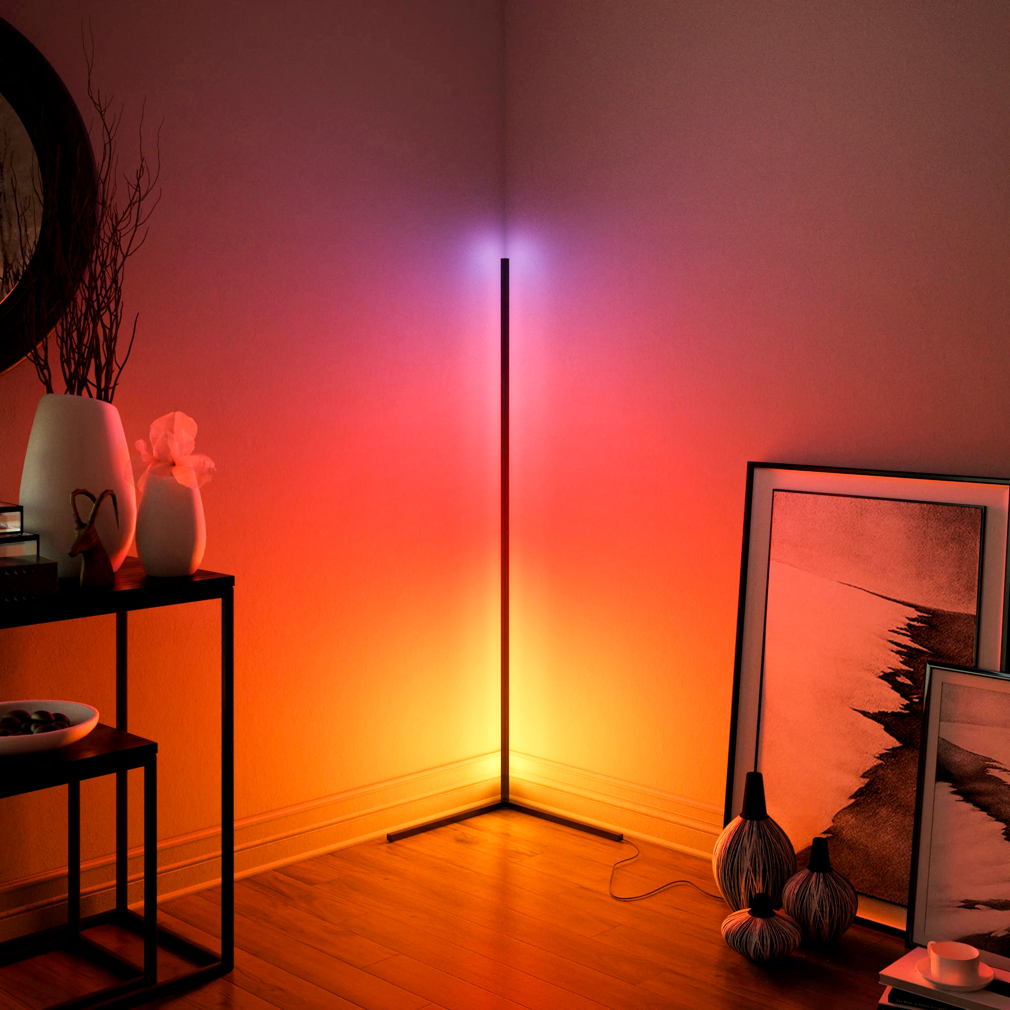 Modern Corner Floor Lamps Floor Lights Interior Atmosphere Lamp Colourful Bedroom Living Room Decoration Lighting Standing Lamp