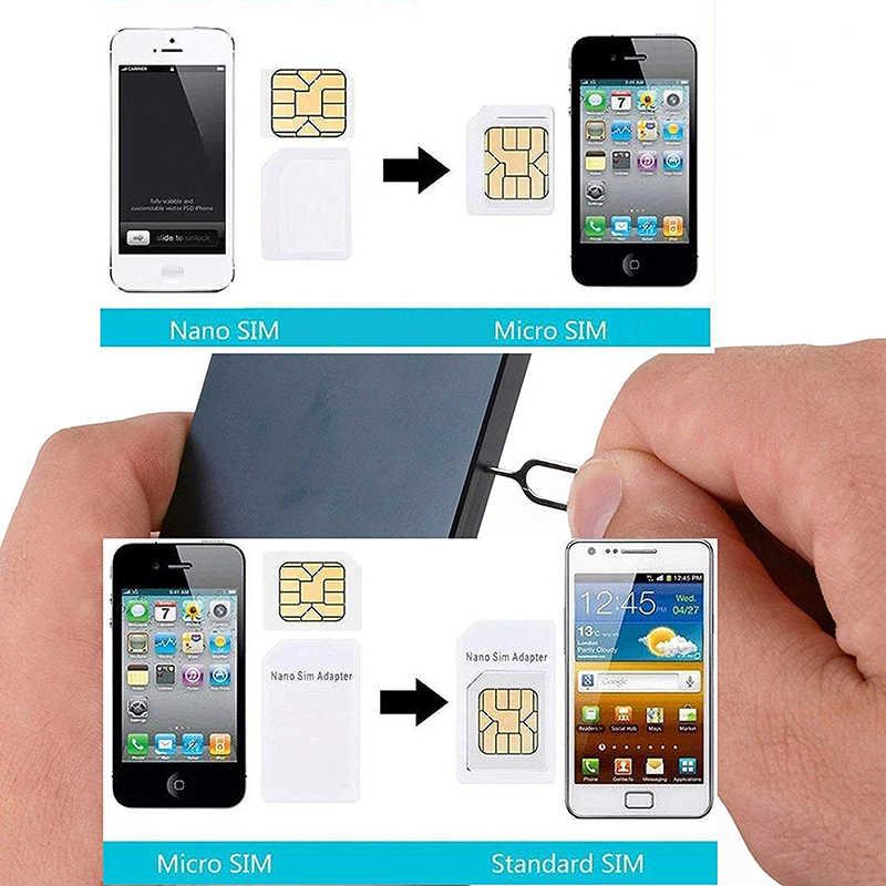 2 teile/los Micro Nano SIM Karte Adapter Connector Kit für iPhone Samsung Huawei Xiaomi Redmi