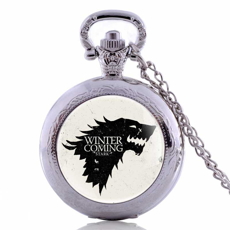 Hary Potter Hogwarts Gryffindor School Lion Color Dial Quartz Pocket Watch Analog Pendant Necklace Mens Womens Watches Chain