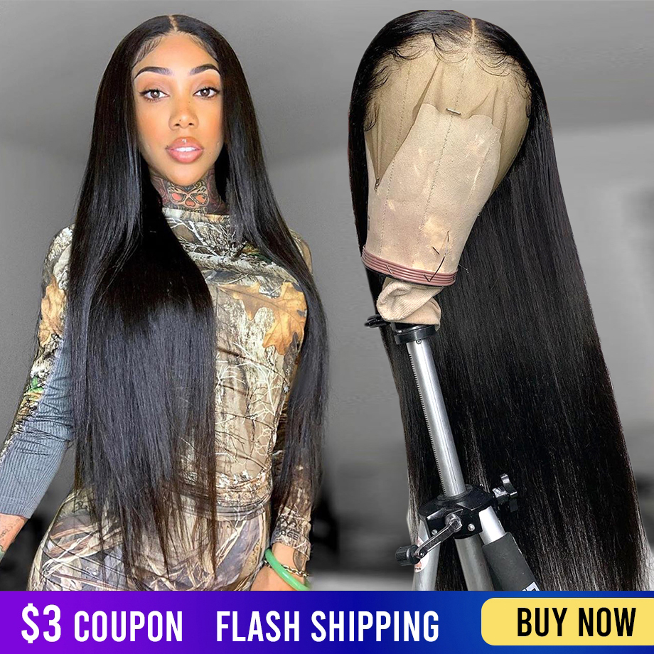 Straight Lace Front Wig 30 Inch Lace Front Human Hair Wigs Remy 150% Straight Frontal Bob Hd Full 28 30 Inch Wig Human Hair Wigs
