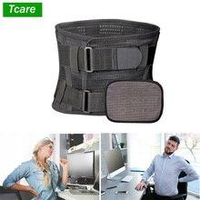 Tcare lombar cinta lombar e cinto de apoio para homem e mulher aliviar a dor lombar com ciática, escoliose dor nas costas