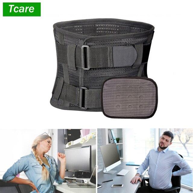 Tcare tirantes para espalda inferior Lumbar y cinturón de soporte para hombres y mujeres aliviar el dolor de espalda inferior con ciática, escoliosis dolor de espalda