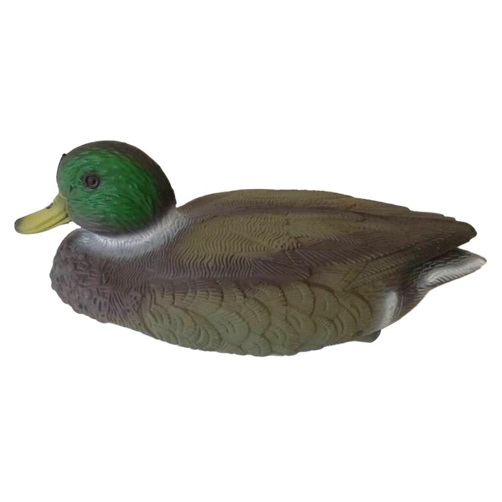 Pato de secagem de caça flutuante, feminino/masculino 3d realista, tiro, decodificação para uso em terra e água