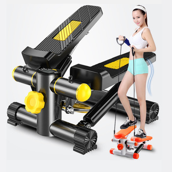Running machine stepper elliptical trainer Walkingpad fitness mini aerobic stepper Platform equipment pedal exerciser treadmill aerobics trainer home gym fitness workout system adjustable aerobic platform cushion top 4 risers