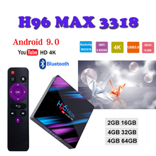 Android 9.0 tv box H96 MAX box tv 4GB + 64GB WiFi 2.4G/5G 4k H.265 USB 3.0 Set Top box Netflix Youtube media Player boxing 4gb ram 64gb rom android 7 1 smart tv box h96 pro rk3328 wifi support netflix youtube usb 3 0 h 265 4k media player set top box