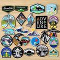 DIY Abenteuer Reise Patches Für Kleidung Berg Camping Abzeichen Raum Streifen Eisen Auf Patches Auf Kleidung UFO Stickerei Patch