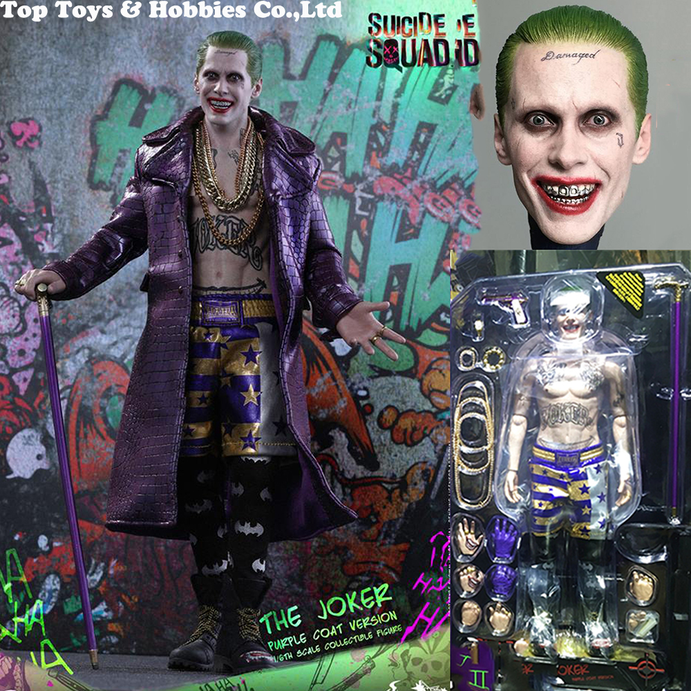 1//6 Purple Coat Hot Toys MMS382 Suicide Squad The Joker Purple Coat Version