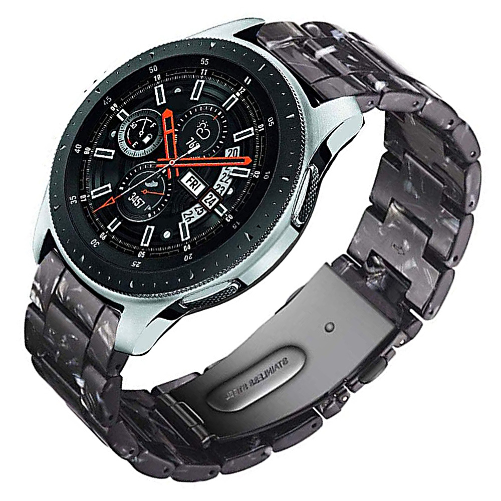 22mm Resin <font><b>Bracelet</b></font> Replacement Strap Link band for <font><b>Samsung</b></font> Galaxy <font><b>Watch</b></font> <font><b>46mm</b></font> Active Gear S3 Classic Amazfit 2S HUAWEI <font><b>watch</b></font> GT image