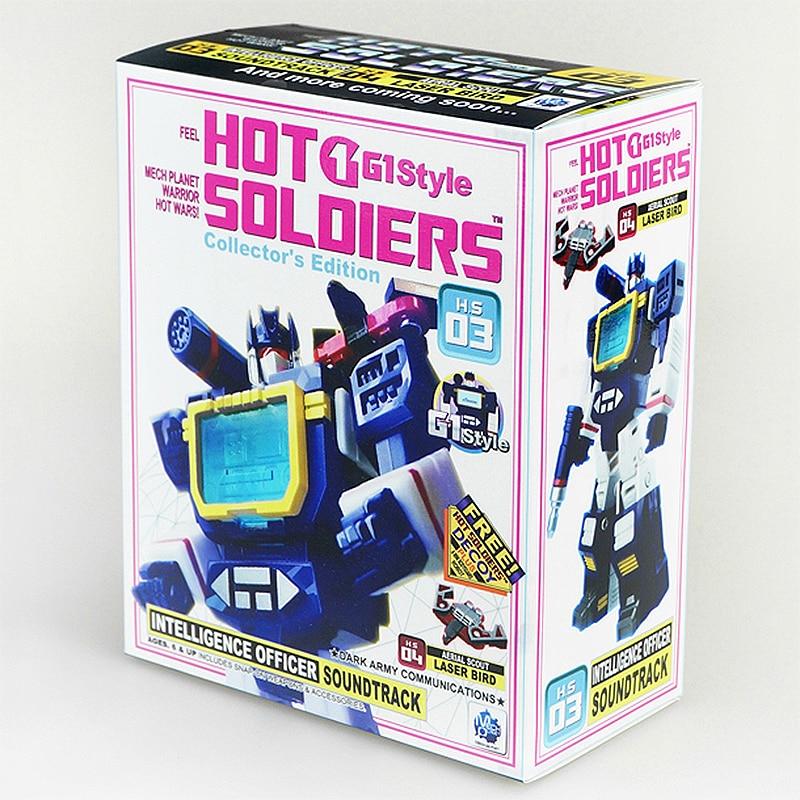 HS MFT Transformation HS03 HS-03 Soundwave With Laserbeak G1 Pocket War Action Figure Robot Toys