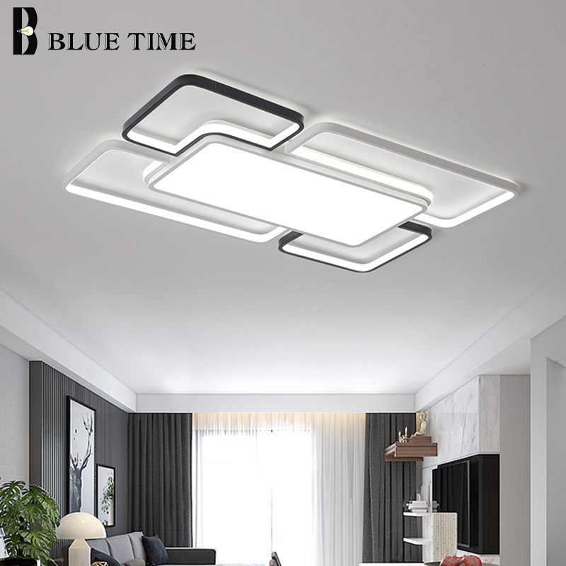Modern LED Ceiling Lights For Bedroom Living Room Dining Room Kitchen Acrylic Flush Mount Ceiling Lamps Indoor Lighting Fixtures