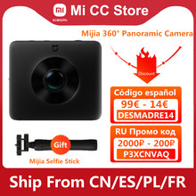 Orijinal Xiaomi Mijia 360 ° panoramik kamera IP67 3.5K Video kayıt küre kamera derece WiFi Bluetooth Mini spor kamera