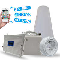 2G 3G 4G tri-band Booster GSM 900 + DCS/LTE 1800 (B3) + UMTS/WCDMA 2100 (B1) mobilny wzmacniacz sygnału 900/1800/2100 wzmacniacz sygnału zestaw