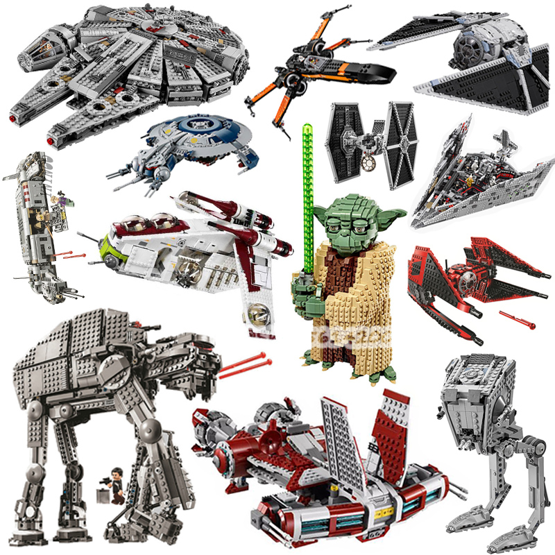 New Lepining  Star Wars Red Tie Fighter AT-TE Walker Building Blocks Brick Toys For Children Compatible With Lepines 75240 05145