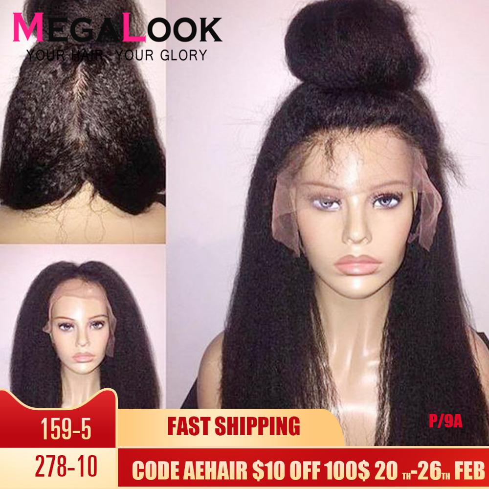 Kinky Straight Wig 13x6 Lace Front Wig Brazilian 30 Inch Wig Preplucked Lace Wig 180density Lace Front Wig 13x4 Lace Frontal Wig