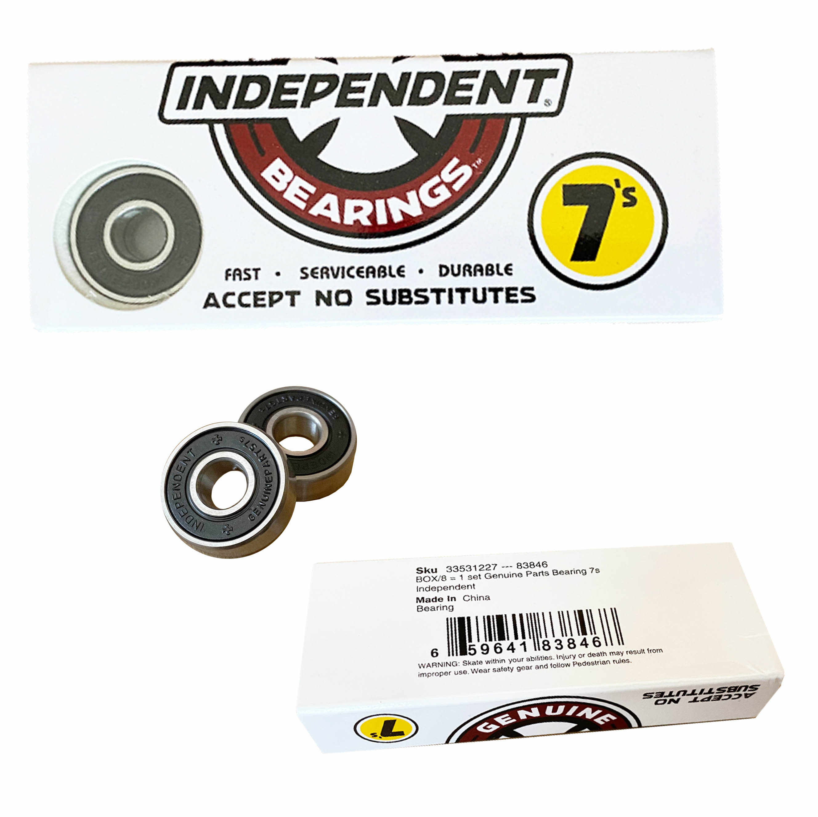 Genuine Skateboard Parts Bearings Professional Double Roller Skate longboard bearings