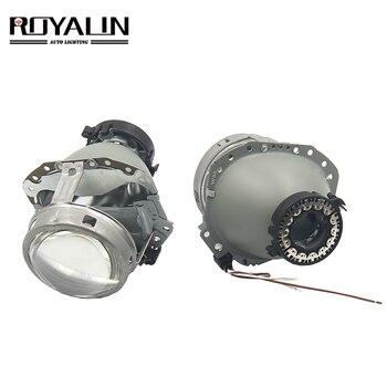 ROYALIN E55 Bi-Xenon Headlight Lenses D1S D2S D3S D4S Projector Retrofit For Audi A6 C6/BMW E60 E65 E53 /Benz W211 W219 Car DIY