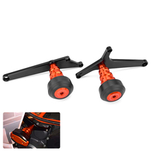 цена на Motorcycle CNC Aluminum Frame Sliders Crash Protector For KTM RC390 RC 390 2014-2017 Left and Right Falling Protection Frame