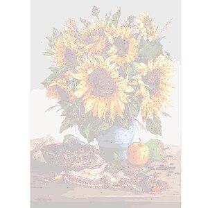 Image 2 - AZQSD النفط اللوحة زهرة في زهرية الطلاء بواسطة أرقام الطلاء زهرة DIY بها بنفسك قماش صورة رسمت باليد ديكور المنزل SZYH6310