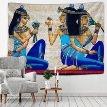 Alte Ägyptische Tribal Savage Tapisserie Wandbehang Startseite Wohnheim Dekor Bettdecke Werfen Kunst Wohnkultur