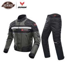Духан ветрозащитный мотоциклетный гоночный костюм защитное снаряжение броня мотоциклетная куртка+ мотоциклетные штаны хип протектор мото комплект одежды