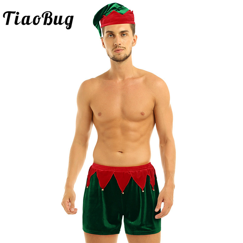 M-XL Mens Christmas Santa Holiday Costume Underwear Boxer Shorts Funny Panties
