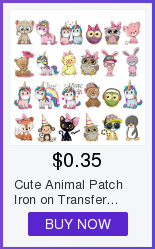 Hb94200481eef430a912a6d75a9fa45e4c Cute Animal Patches Set Iron on Transfer Unicorn Owl Cat Dog Patches for Girl Kids Clothing DIY Heat Transfer Vinyl Stickers