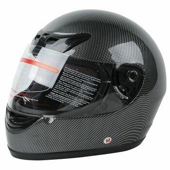 DOT Adult Carbon Fiber Flip Up Full Face Motorcycle Helmet Street Bike Motocross S M L XL 2
