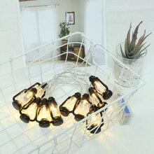 Decorative String-Lights Light-String Lantern Lamp-Shape Ramadan Kerosene Islam Black
