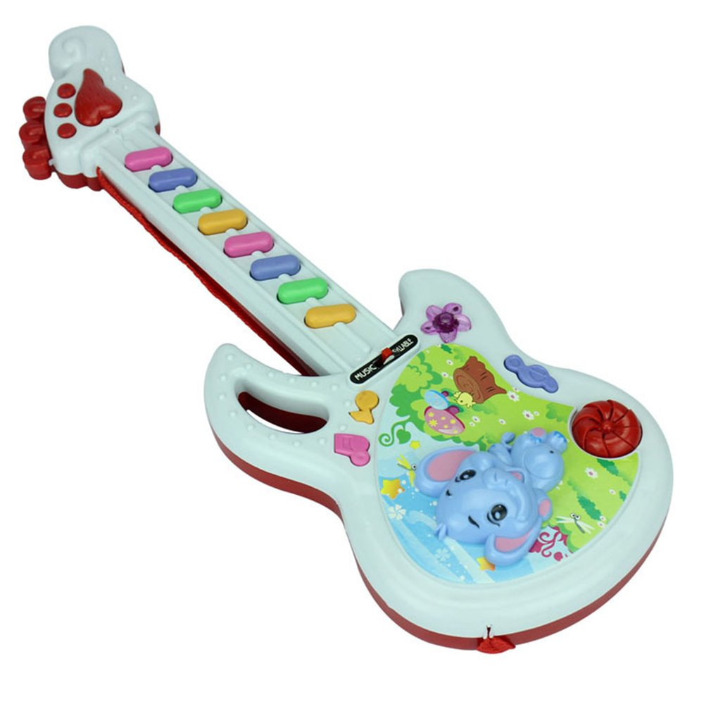 Electric Guitar Toy Musical Play Kid Boy Girl Toddler Learning Developmental Electron Toy Baby Early Educational Birthday Gifts