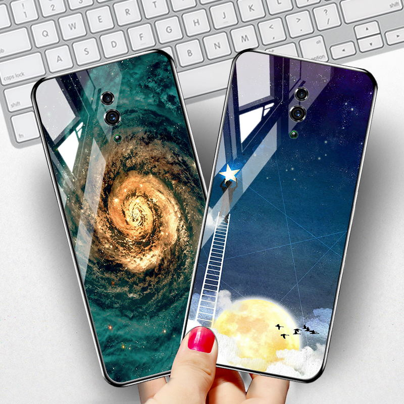 DIY Tempered <font><b>Glass</b></font> <font><b>Case</b></font> For <font><b>OPPO</b></font> Realme 5 3 Pro Q X Lite XT <font><b>Case</b></font> Silicone Cover <font><b>OPPO</b></font> F11 Pro Reno 2 2Z A5 <font><b>A3s</b></font> <font><b>Cases</b></font> Coque image