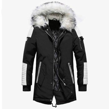 Winter Jacket Men Thicken Warm Parkas Men Casual Long Outwear Hooded Collar Jackets Coats Parkas Hombre Invierno Dropshipping children winter jacket kids winter jackets thicken warm cotton corduroy girls winter coat detachable collar hooded kids outwear