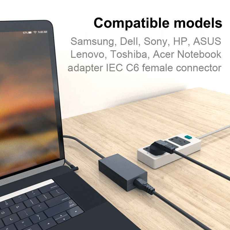 AU AC Power Kabel 1.2m Australië Mickey Mouse IEC C5 Plug Netsnoer Voor HP Dell Lenovo Sony Samsung LG Laptop Notebook