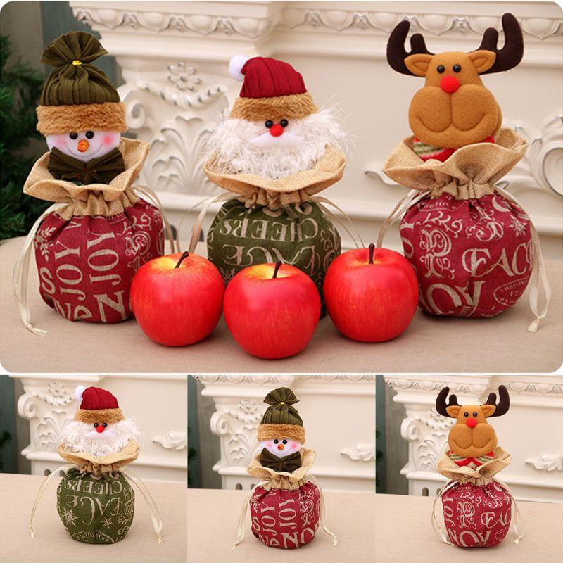 Christmas Candy Storage Bag Holder Kids Xmas Gift Organizer Tree Decoration C90E