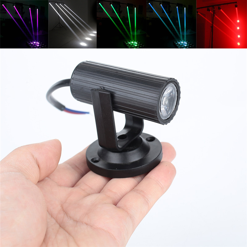 1W RGBW LED Stage Lighting PinSpot Beam Spotlight Professional DJ Disco Party KTV Backlight Stage Light