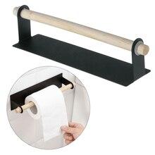New Hot Paste Kitchen Rag Rack Towel Holder Roll Paper Storage Tissue Hanger Cabinet Hanging Shelf 23.4*6cm