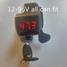 12V 24V 36V 48V 60V 72V ebike Bike thumb throttle with key lock LCD Display gas for electric bicycle/scooter/e-bike ebike 24v 36v 48v kt led900s led display intelligent meter black control panel with 5 pins plug for kt controller