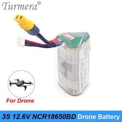 Turmera 3S RC akumulator litowy wielokrotnego ładowania 3S 10.8V 12.6V NCR18650BD 3200mAh 10A dla RC samolot Drone łódź 12.6V 10.8V LiPo 3S
