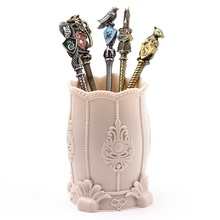 5pcs/set Harries Makeup Brush Magic Academy Badge Wands Potters Eye Shadow Beauty Cosmetic Stationery Painting Gifts For Girl